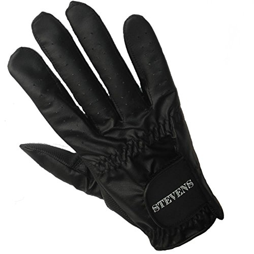 Stevens Mens Right Hand Black Bowling Glove (XL)