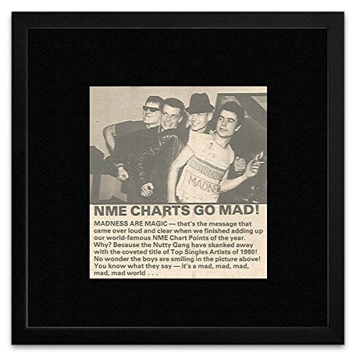 Madness - NME Charts Go Mad! Framed Mini Poster - 18x18cm from Stick It On Your Wall