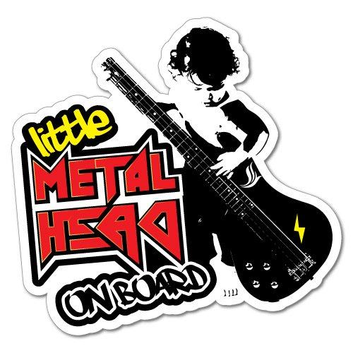 Little Metal Head On Board Sticker Decal Car Vinyl Sign Window Cute from Sticker Collective