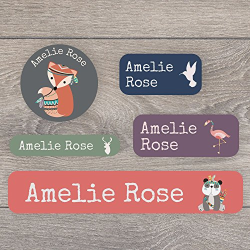 171 Iron on and stick on name label pack for children - A range of designs to choose from - Perfect for labelling uniforms, stationary, tupperware from Stickerscape