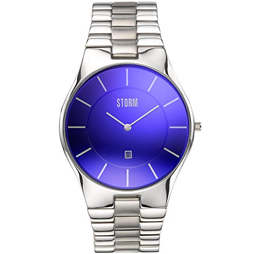 STORM Slim-X XL Minimalist Watch - Lazer Blue - Stainless Steel Strap from Storm