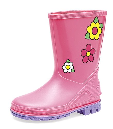 Childrens Digger 'Kids Puddle' Wellies Pink/Lilac size 7 Child UK from Stormwells