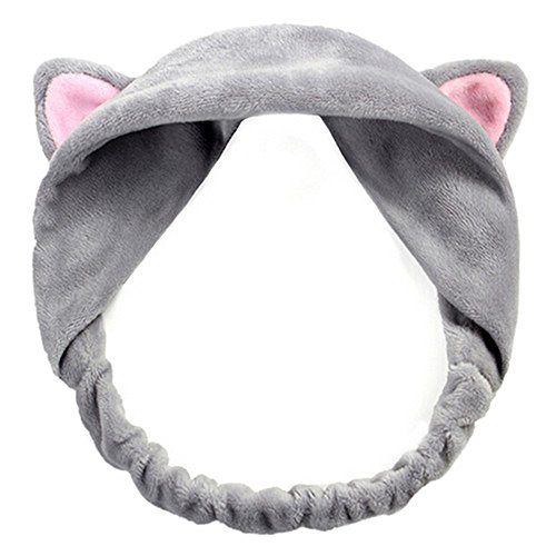 Cute Cat Ears Headband Hair Wear Makeup Shower Face Washing Hairband from Suberde