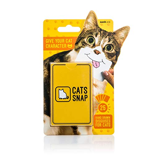 Suck UK Cats Snap Photo Cards / Props - Novelty Animal Card Game from Suck UK