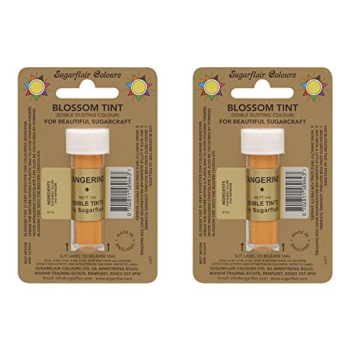 2 x Sugarflair Tangerine Edible Blossom Tints Food Colour Colouring Dust Powder from Sugarflair