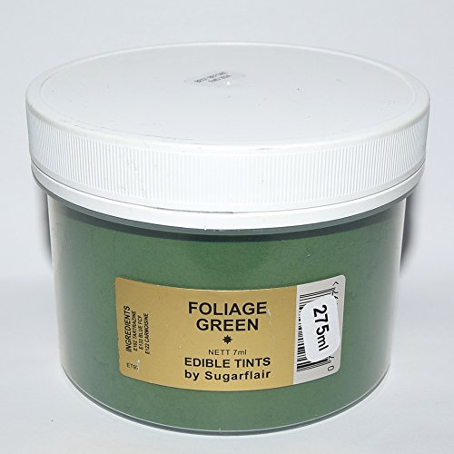 Sugarflair Blosom Tint Edible Dusting Powder- Foliage Green -Large Value Pack 275ml (when Packed) from Sugarflair
