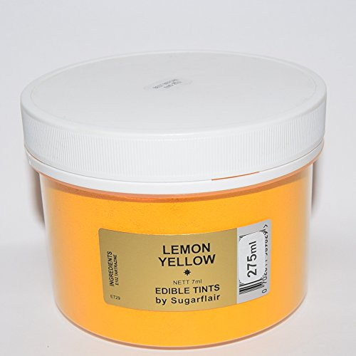 Sugarflair Blosom Tint Edible Dusting Powder- Lemon Yellow -Large Value Pack 275ml (when Packed) from Sugarflair