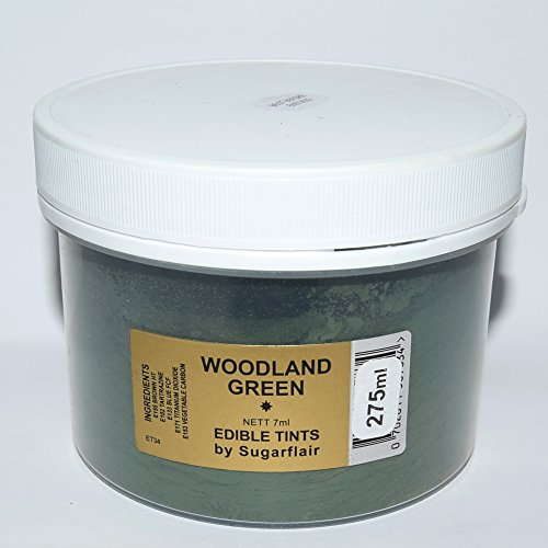 Sugarflair Blosom Tint Edible Dusting Powder- Woodland Green -Large Value Pack 275ml (when Packed) from Sugarflair
