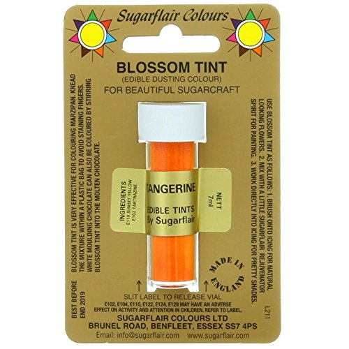 Sugarflair Blossom Tint Edible Dust Food Colouring Sugarcraft Powder Colour – 7ml – Tangerine from Sugarflair
