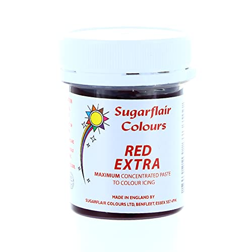 Sugarflair Maximum Concentrated Paste Red Extra from Sugarflair