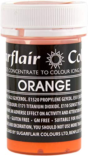 Sugarflair PASTEL Concentrated Paste Food Colour :: Perfect for all Cake Making and Colouring (Orange) from Sugarflair