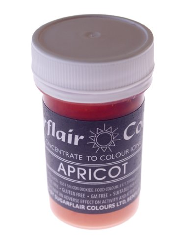 Sugarflair Paste Colours - Pastel- Food Colouring - APRICOT-400g Bulk Pack from Sugarflair