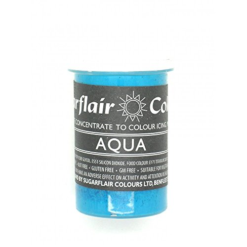 Sugarflair Paste Colours - Pastel- Food Colouring - AQUA -400g Bulk Pack from Sugarflair