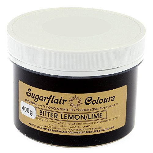Sugarflair Spectral Concentrated Paste Food Colouring - BITTER LEMON/LIME-400g Bulk Pack from Sugarflair