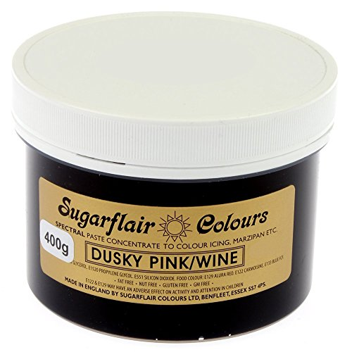 Sugarflair Spectral Concentrated Paste Food Colouring - DUSKY PINK / WINE-400g Bulk Pack from Sugarflair