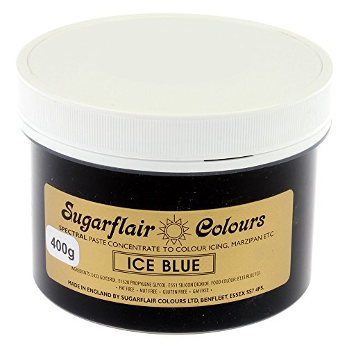 Sugarflair Spectral Concentrated Paste Food Colouring - ICE BLUE-400g Bulk Pack from Sugarflair