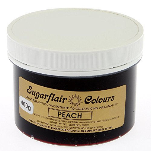 Sugarflair Spectral Concentrated Paste Food Colouring - Peach -400g Bulk Pack from Sugarflair