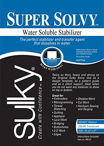 Sulky 19 1/2 x 36-inch Medium Weight Super Solvy Water Soluble Stabilizer from Sulky