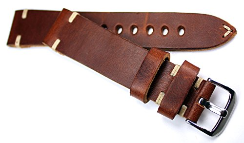 68a0806d6 RIOS1931 Leather Strap 20mm Handmade Germany Vintage Retro Look Pilot Band  from RIOS1931