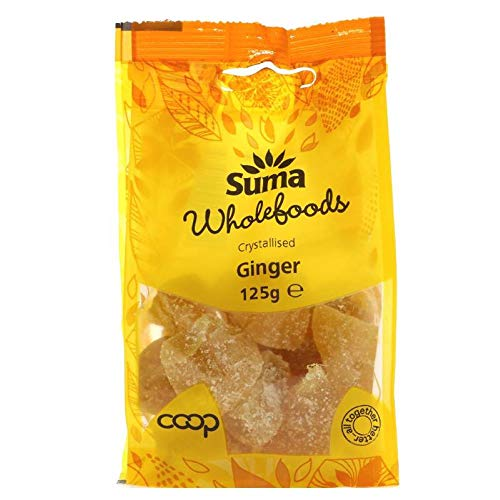 Suma Prepacks | Ginger - crystallised | 4 x 125g from Suma Prepacks