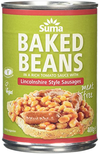 Suma Baked Beans and Vegan Sausage 400 g (Pack of 12) from Suma