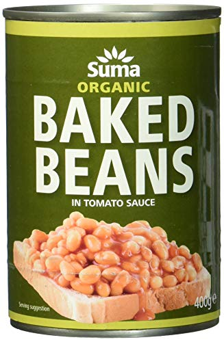 Suma Organic Baked Beans 400 g (Pack of 12) from Suma