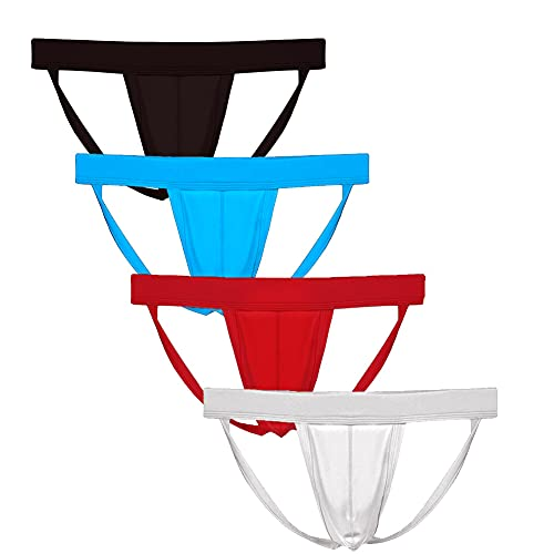 Summer Code Men's Athletic Supporter Performance Jockstrap Elastic Waistband Underwear from Summer Code