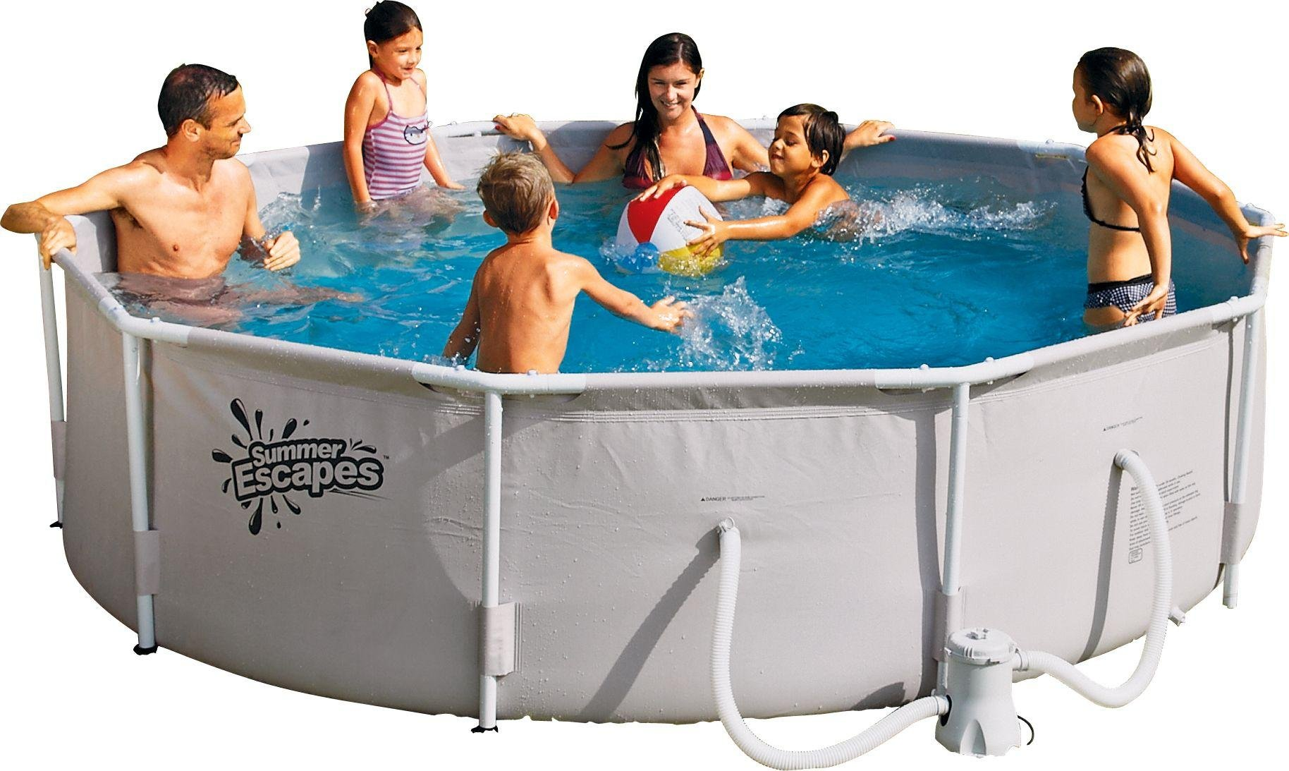 Round Frame Pool - 10ft - White from Summer Escapes