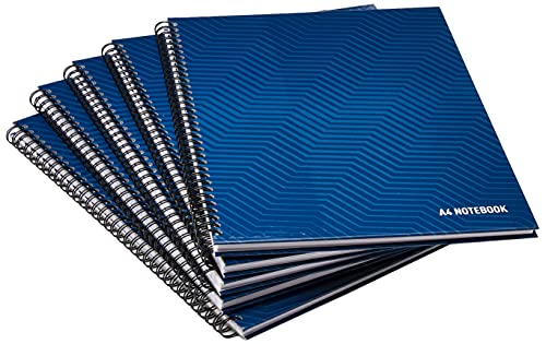 SUMMIT A4 Notebook Hardcover, Wirebound, Lined, 160 Page, Pack of 5 from SUMMIT
