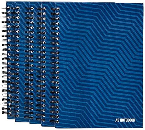 SUMMIT A5 Notebook Hardcover, Wirebound, Lined, 160 Page, Pack of 5 from SUMMIT