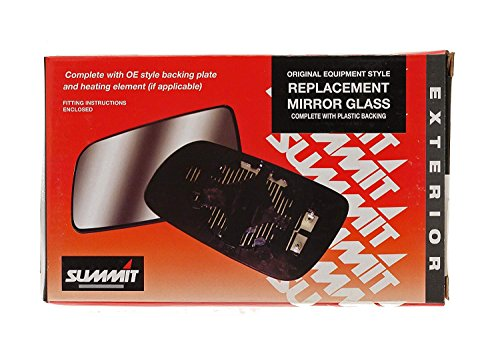 Summit Replacement Heated Mirror Glass With Backing Plate (Fits on rhs of vehicle) from Summit