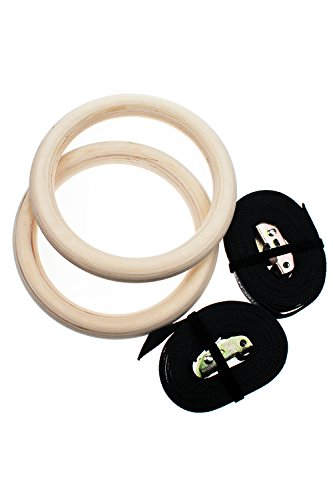 Wooden Gymnastic Rings with Straps Exercise Gym Rings Crossfit Gymnastics Athletic Dip Rings By Sundried from Sundried