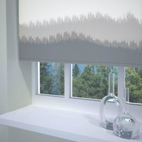 Blur Border Ready Made Blackout Roller Blind Grey from Sunflex