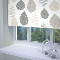 Leaf Ready Made Blackout Roller Blind Neutral from Sunflex