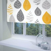 Leaf Ready Made Blackout Roller blind Yellow from Sunflex