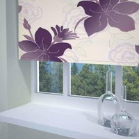 Lily Ready Made Blackout Roller Blind Purple from Sunflex
