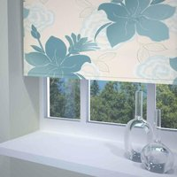 Lily Ready Made Blackout Roller Blind Teal from Sunflex
