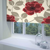 Papavero Ready Made Blackout Roller Blind Red from Sunflex