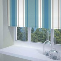 Stripe Ready Made Blackout Roller Blind Blue from Sunflex