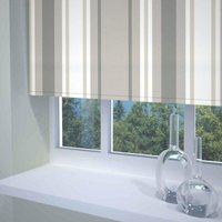 Stripe Ready Made Blackout Roller Blind Neutral from Sunflex