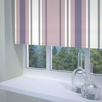 Stripe Ready Made Blackout Roller Blind Purple from Sunflex