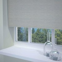 Textured Stripe Ready Made Blackout Roller Blind Grey from Sunflex