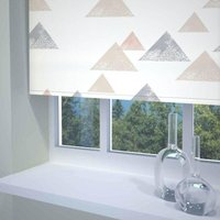 Textured Triangle Ready Made Blackout Roller Blind Coral from Sunflex