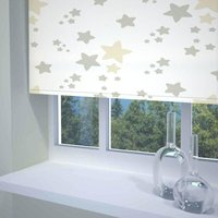 Twinkle Twinkle Ready Made Blackout Roller Blind Neutral from Sunflex