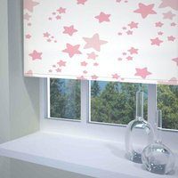 Twinkle Twinkle Ready Made Blackout Roller Blind Pink from Sunflex
