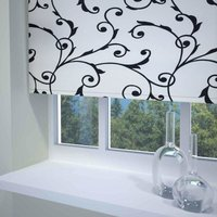 Virginia Ready Made Blackout Roller Blind Black and White from Sunflex