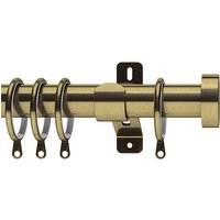 Swish 35mm Stud Curtain Pole Antique Brass from Sunflex