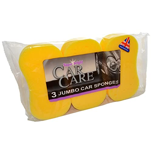 Super Bright: Car Care, Car Wash, Window Cleaning (3 x jumbo car sponges) from Super Bright