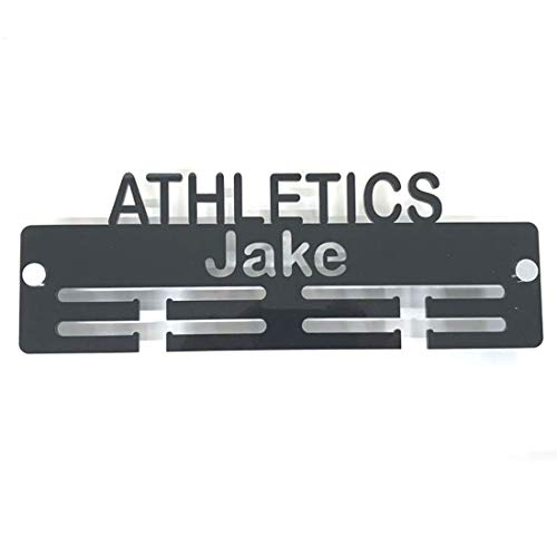 "Super Cool Creation Personalised""Athletics"" Medal Hanger - Red from Super Cool Creation"