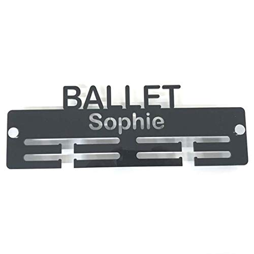 "Super Cool Creation Personalised""Ballet"" Medal Hanger - Yellow from Super Cool Creation"